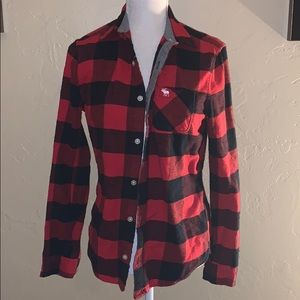 Flannel lumberjack red and black